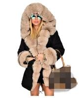 여성 겨울 의류 패션 머리 넥타이 모자 따뜻한 코트 여성