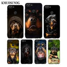 For Huawei P8 P9 P10 P20 P30 Pro Lite P Smart Plus Y6 Y9 2017 Black Soft Silicone Phone Case Cool Rottweiler Style