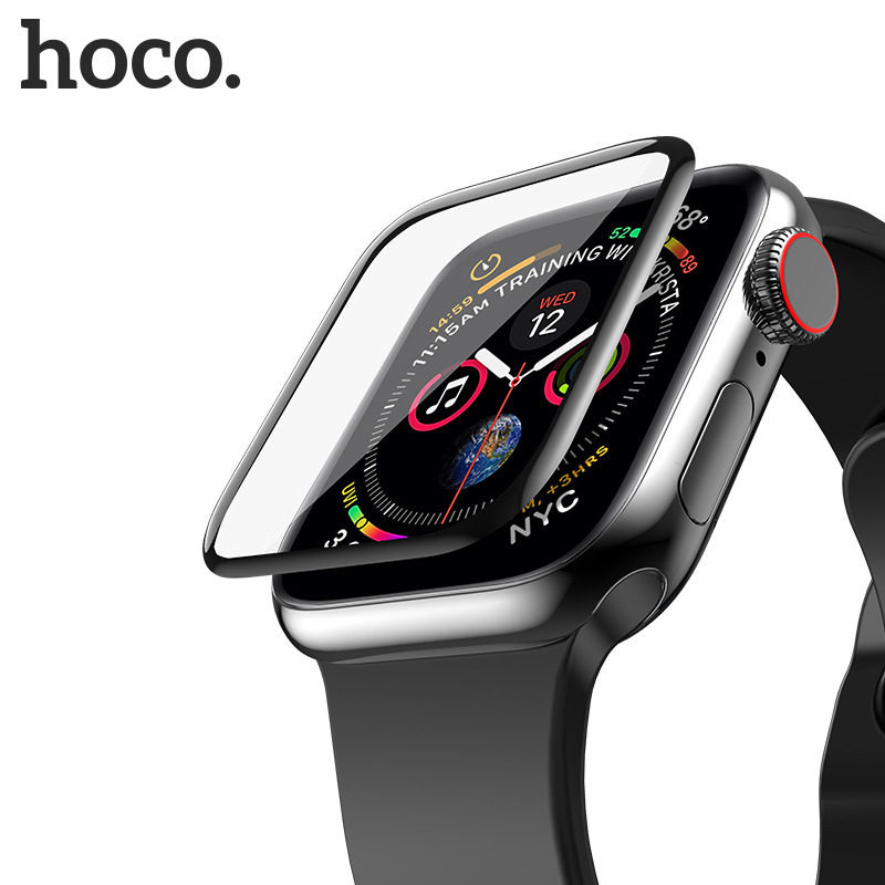 Original HOCO Tempered Glass Silk Screen Film for Apple Watch 4 44mm / 40mm 3D Surface Protector iWatch Series