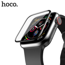 Original HOCO Tempered Glass Silk Screen Film for Apple Watch 4 44mm / 40mm 3D Surface Screen Protector Film for iWatch Series 4 3pack tpu screen protector film for apple watch series 4 40mm 44mm soft tpu anti scratch protective film for iwatch 40mm 44mm
