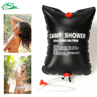 20L 40L Outdoor Camping Hiking PVC Solar Energy Heated Camp Shower Bag Outdoor Shower Water Bag