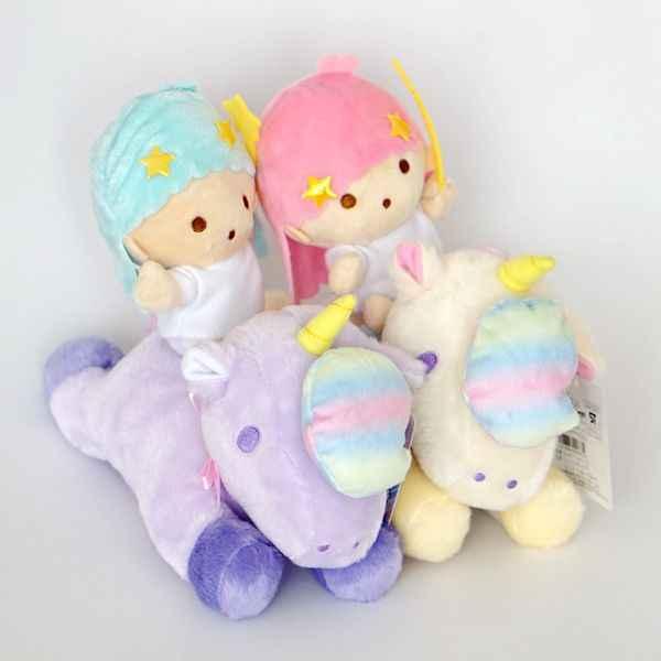Bonito Cavalo Unicórnio Brinquedo De Pelúcia Pouco Estrelas Gêmeas Gemeos Cavalo Macio Bichos de pelúcia Bonecas Para As Crianças Presentes de Aniversário Crianças Meninas