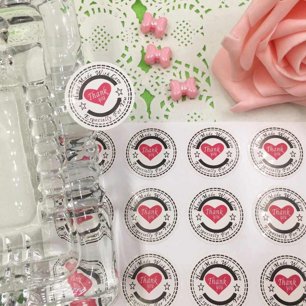 300 шт. 3 см Спасибо любовь самоклеющаяся уплотнительная Стикеры S крафт этикетки Стикеры DIY ручной работы подарок торт конфеты Бумага теги