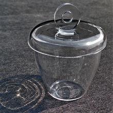 1 шт лабораторное стекло кварцевый тигель с крышкой 5 300 мл