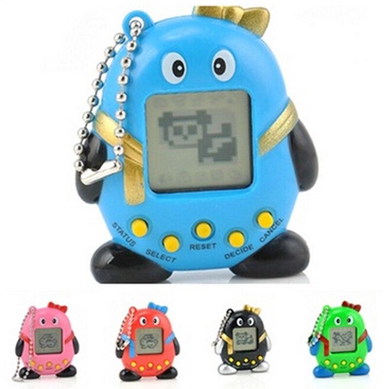 Mini Plastic Electronic Digital Pet Penguins Funny Toys Handheld Game Machine For Educational Children Gift