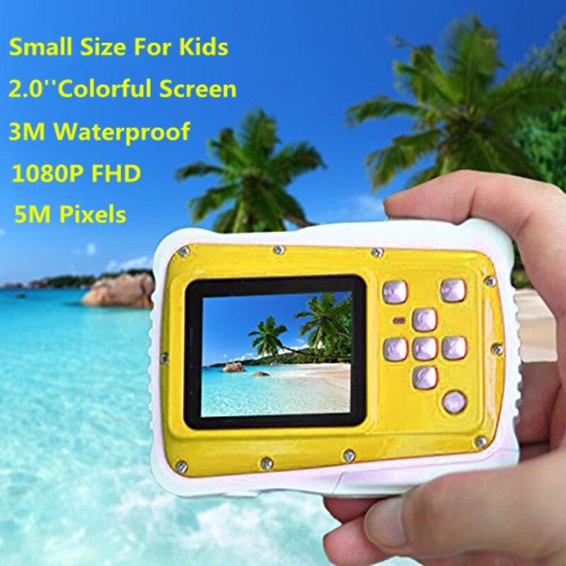 Children s camera 8MP 3M Waterproof Digital Camera 1 8 Screen Yellow 5 million Camera The