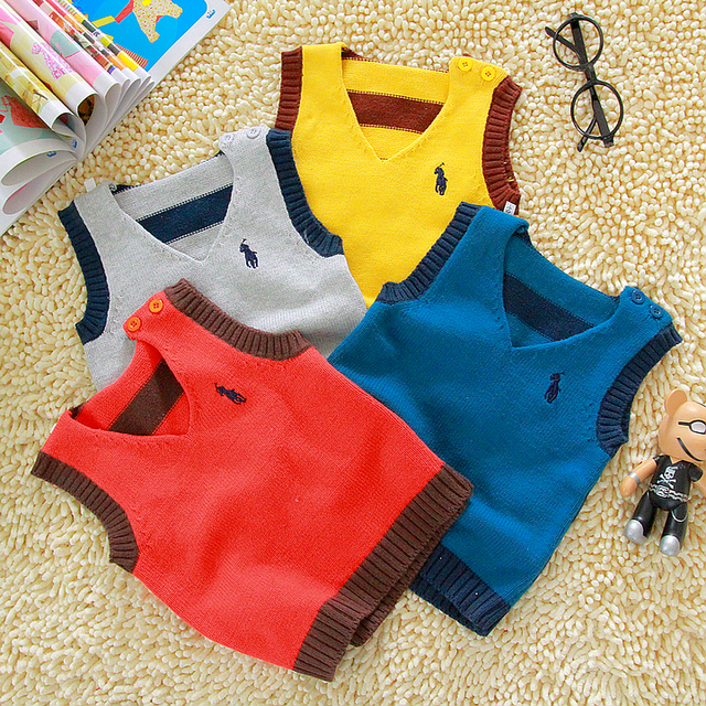 2013 spring and autumn cotton thread yarn baby child vest woven vest male female child yarn