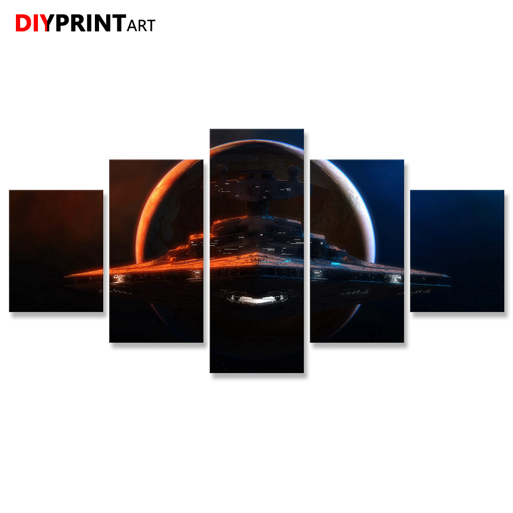 Destroyer Spaceship Starwars 5 Pcs/set Posters and Prints Paintings for Living Room A2087 image
