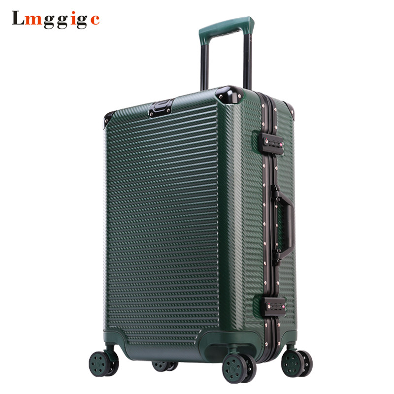Aluminum frame+PC Rolling Luggage Travel Suitcase Bag,20242629 inch Trolley Case,Nniversal wheel Carry-On,Hardside Drag box
