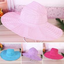 Women Girls Outdoor Hat Camping Fishing Hat Wide Large Brim Bucket Hat All-match Solid Color Foldable Sun Hat Beach Cap