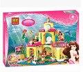 383 pcs lepin Amigos princesa Sereia Palácio Do Fundo Do Mar Conjunto De Construção 41063 Compatível com lepin menina designer original