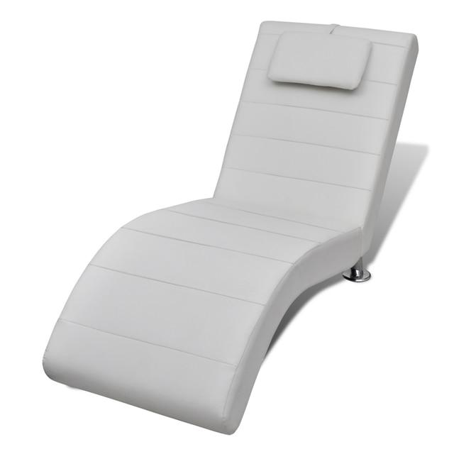 IKayaa Blanco Diván 2 Piernas Con Cojín Chaise Lounge Para la Sala ...