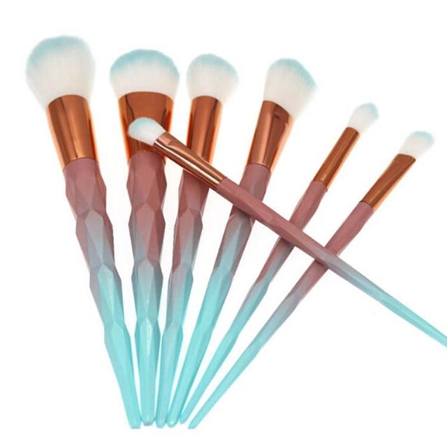 7/10pcs Unicorn Thread Makeup Brushes Professional Make Up Brushes Fiber Brush Set Makeup Tools Eyebrow Eyeliner Powder Brushes 1