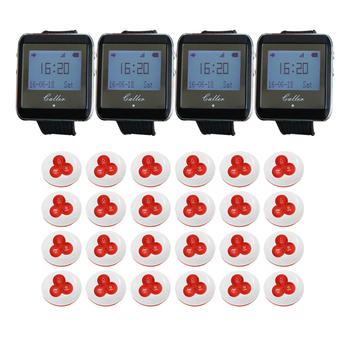 4 zegarek odbiorniki 24 Pager bezprzewodowa obsługa kelnerska wywołanie systemu restauracja System pagera tanie i dobre opinie STRONG SENSE ZJ-41E-A BLACK