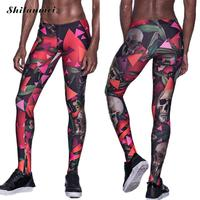 New Fashion Women Men Leggings Skull Print Fitness Legging Sexy Silm Legins Streetwear Hip Hop Mid Waist Stretch Trouser Pants