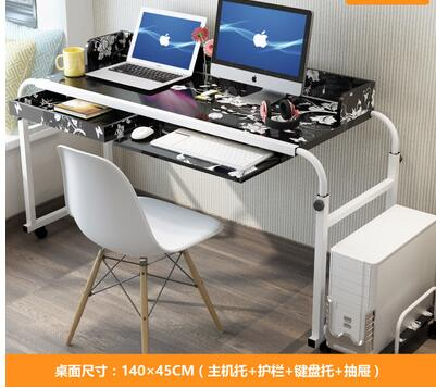 Купить с кэшбэком Removable bed double notebook desktop computer table home lazy cross bed care lifting small table.