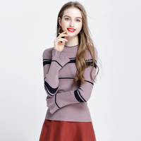 2017 The New Autumn And Winter Women S Sweater Round Neck Speaker Sleeves Long Sleeves Korean