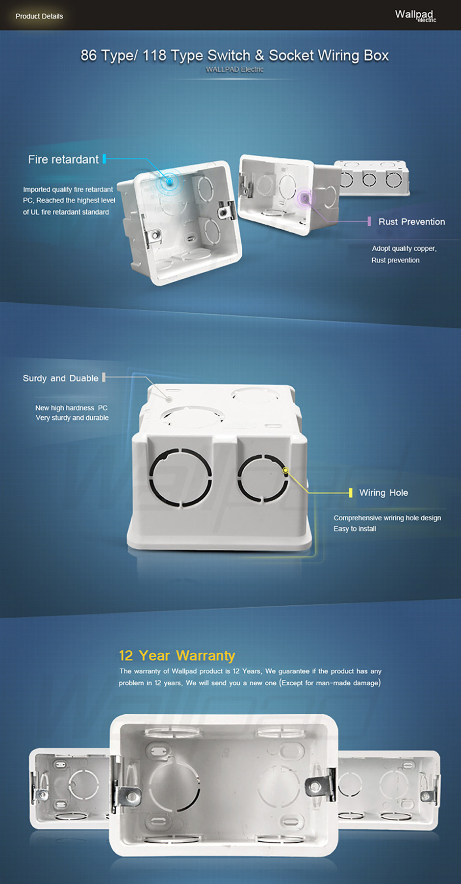 Plastic Wall Plate Mount Junction Box Type 86 Switch Cassette Acrylic Wiring 10 Getsubject Aeproductgetsubject