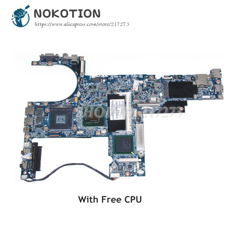 NOKOTION For Hp Compaq 6910 6910P Laptop Motherboard 446402-001 PM965 DDR2 UMA MAIN BOARD with Free CPU 100% Tested nokotion laptop motherboard for hp dv6000 dv6500 dv6600 s1 449902 001 main board da0at1mb8f1 ddr2 geforce 8400m with free cpu