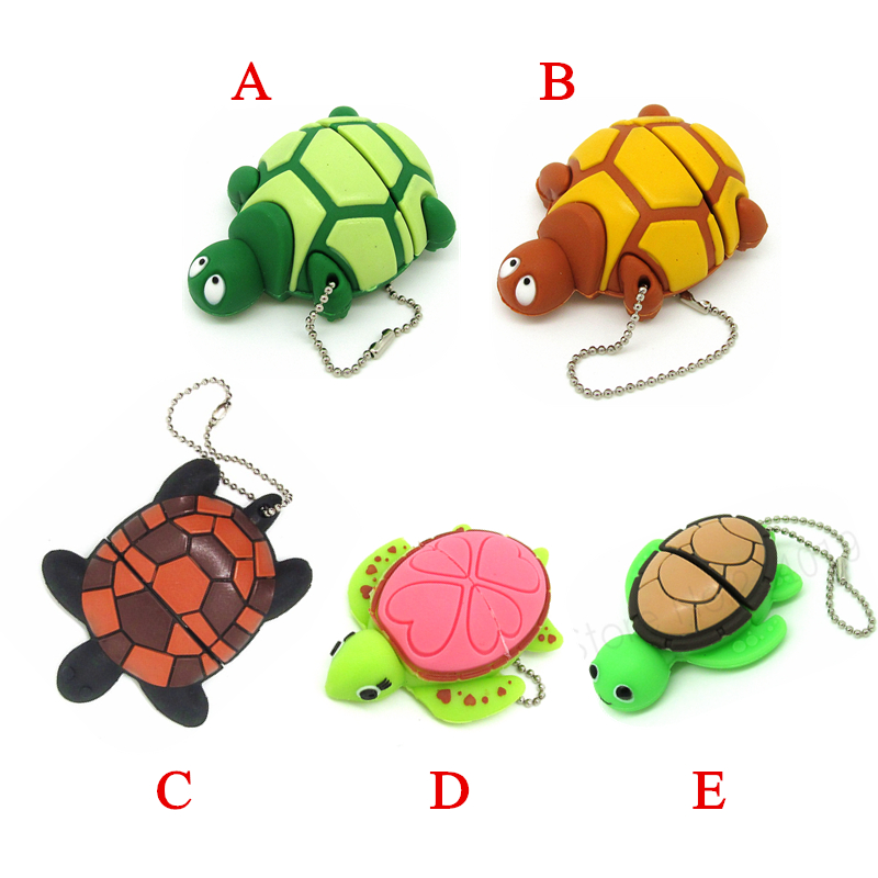Cartoon Turtle Memory Disk Pen Drive Personalized Stick 5 Styles Tortoise Usb Flash Drive Pendrive 4gb 8gb 16gb 32gb Tablet Gift