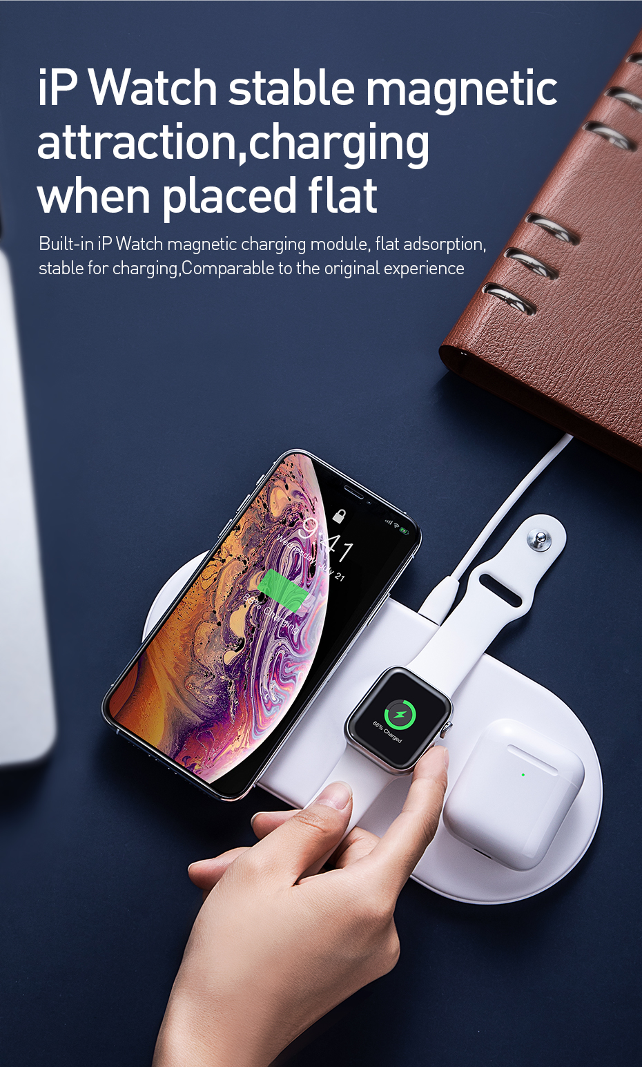 3 in 1 QI Wireless Charging Pad 12
