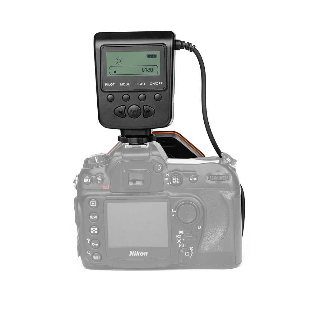 מאקרו Led טבעת אור Speedlite עם מתאם טבעת עבור ניקון D5100 D3100 סדרת Canon 5D Mark II 7D 10D אולימפוס מצלמה