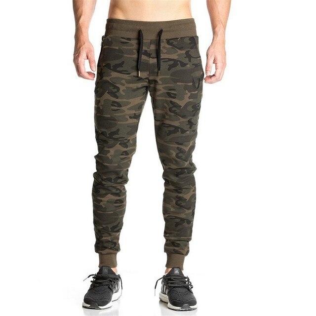 447f0b8ae13 De alta Calidad Pantalones Para Hombre Joggers Fitness Ejército Militar  Camuflaje Hombres Pantalones de Vestir Pantalones