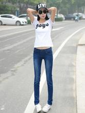 2015 случайные джинсы тонкий прямой женские брюки осень свободные карандаш брюки тенденция