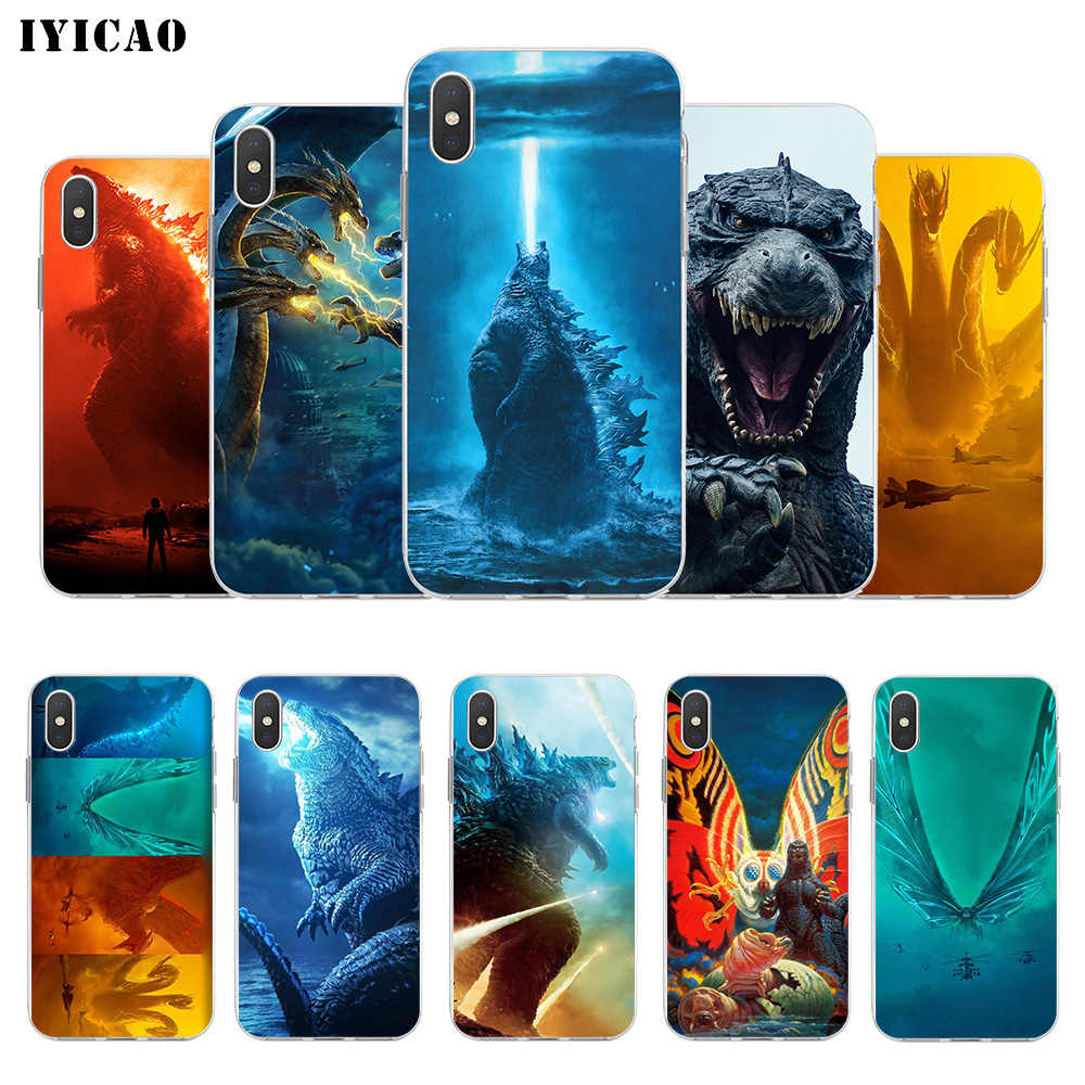 IYICAO Godzilla 2 movie Soft Silicone Phone Case for  iPhone X XR XS MAX 6 6s 7 8 Plus X 5 5S SE TPU Cover