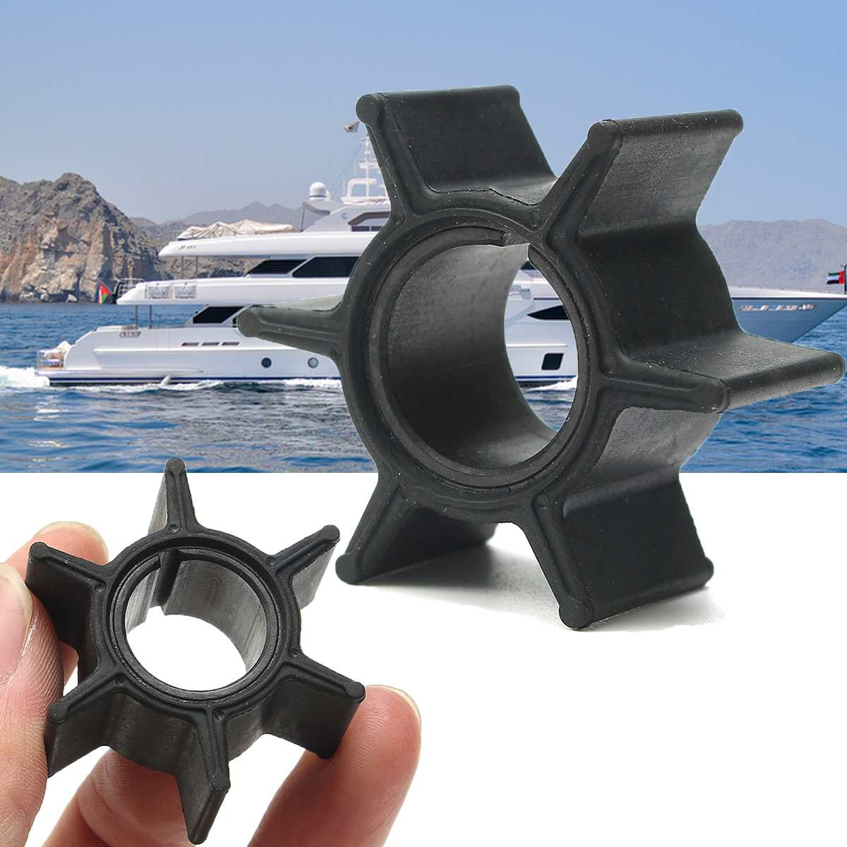Createshao Impeller Replacement 345-65021-0 345650210 3R0650210M 18-8923 for Nissan Tohatsu 25 30 35 40 HP for Mercury Mariner Mercruiser 47-161541; 47-161541 Replacement