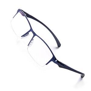 Image 2 - Оправа для очков из чистого титана, мужская оправа для очков, оправа для очков, большие простые дизайнерские оправы