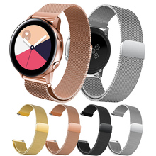 Milanese Loop Bracelet for Samsung Galaxy Watch Active Bands Straps Stainless Steel Rose Gold Strap 20mm Band Wrist