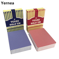 NEW HOT 10Sets/Lot Baccarat Texas Hold'em Plastic Playing Cards Pokers Waterproof Frosting Poker Cards Board Games Yernea