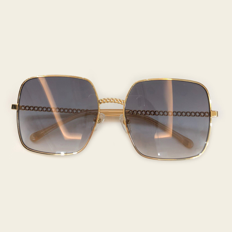 no4 Sunglasses no5 Für Marke No1 Vintage 2019 Sunglasses Kette no3 Quadrat Metall Frauen Retro Designer Sunglasses Rahmen Sunglasses Sonnenbrille Sunglasses Weibliche no2 Neue 6nFH671