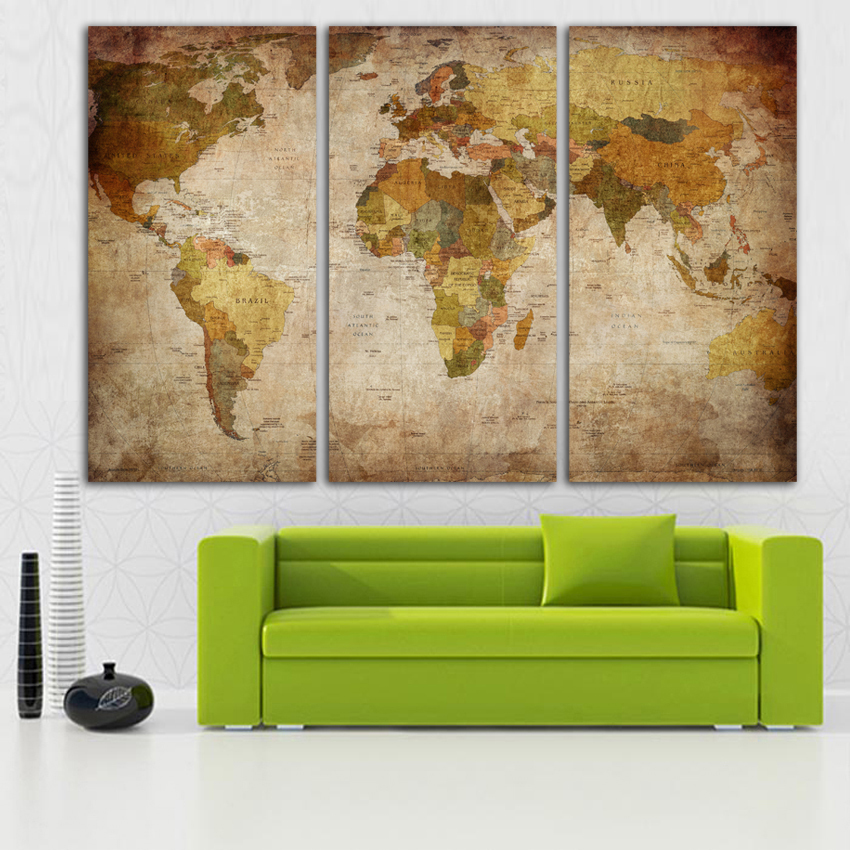 Fashion hd print clear world map template on canvas for office fashion hd print clear world map template on canvas for office living room home decoration art wall painting posters fa62 in painting calligraphy from gumiabroncs Gallery