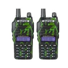 2 pcs walkie talkie pair baofeng uv 82 camo green 5w two-way radio sister UV-B5 UV 5R+free baofeng headset