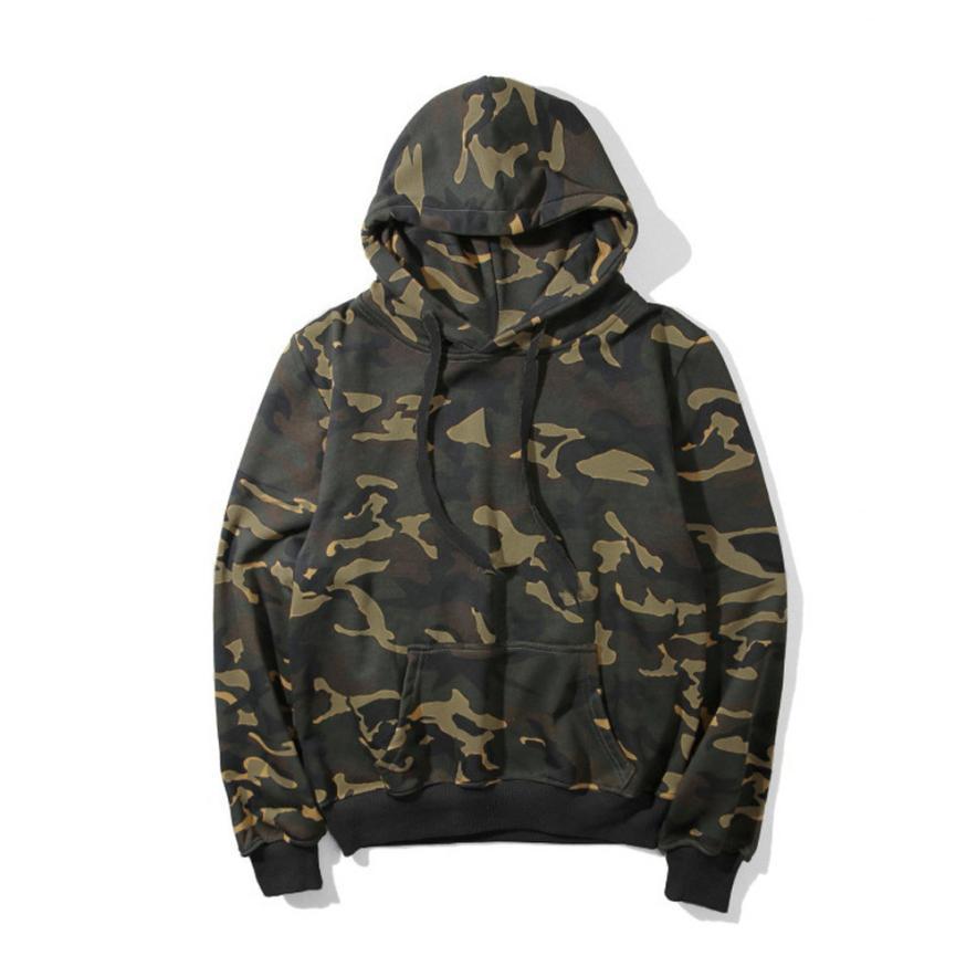 New Army Green Camouflage Hooded Hoodies 2019 Autumn Winter Women Long Sleeve Camo Fleece Pullover Sweatshirts Women Clothing