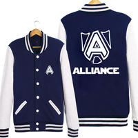 Alliance Team LOL Game Baseball Uniform Cloth Hoodie Coat Clothing Man Women Lovers Free Shipping