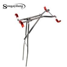 Sougayilang Fishing Rod Bracket 40cm Adjustable Fishing Rod Stand Rustless Metal Fishing Rod Support Accessories Tool
