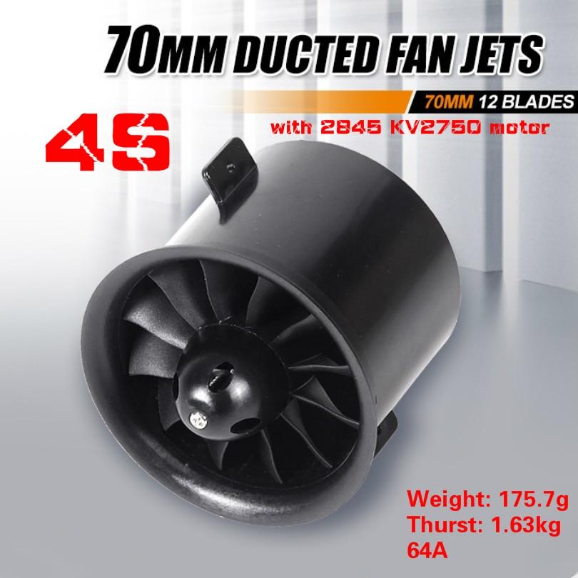 FMS 70mm 12 Blades V2 Ducted Fan EDF Unit With 2860 KV1850 2845 KV2750 Brushless