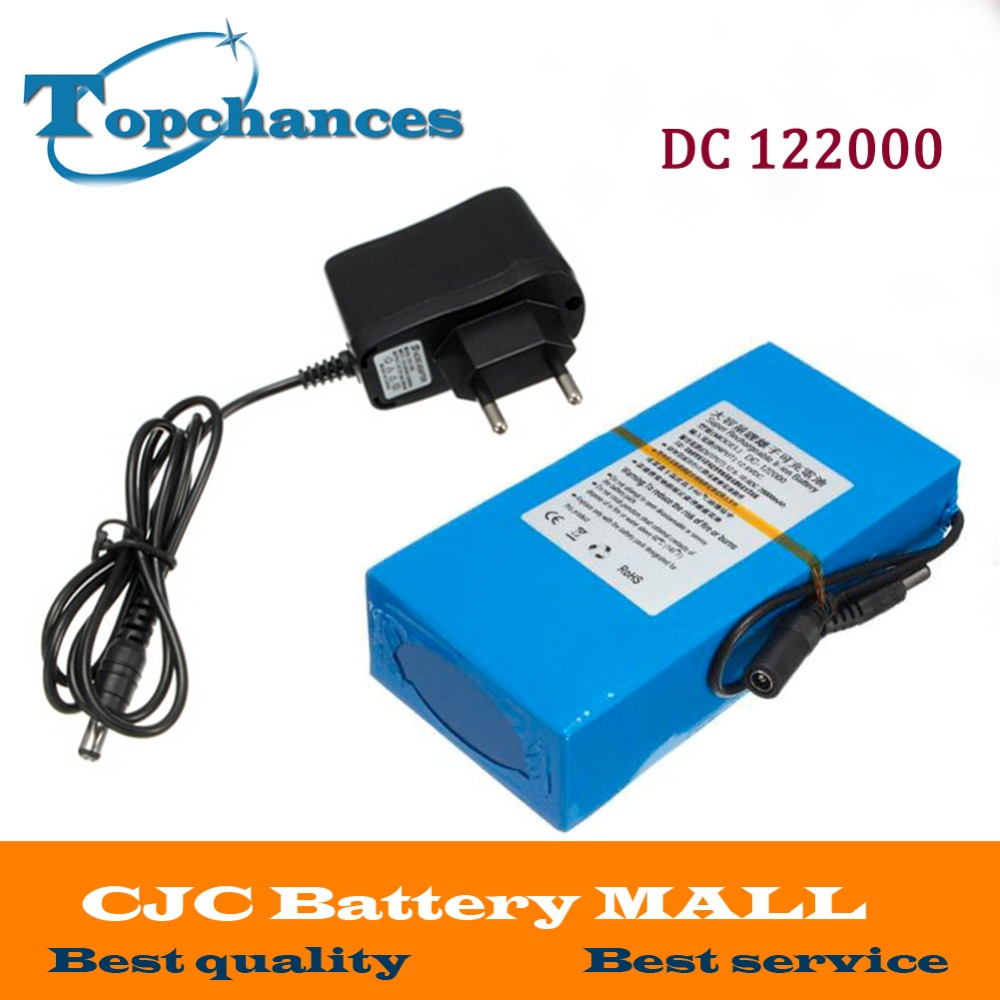 все цены на  High Quality DC 12V Strong 20000MAH DC 122000 Powerful Rechargeable Backup Li-ion Battery  For CCTV Camera Wireless Transmitter  онлайн