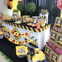 Construction Banner Birthday Party Decorations Truck Excavator Garland Tractor Baby Shower Kids Boys Birthday Party Supplies(China)