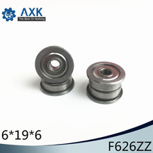 F626ZZ Flange Bearing 6x19x6 mm ABEC-1 ( 10 PCS )  Flanged F626 Z ZZ Ball Bearings free shipping 10 pcs smf106zz flanged bearings 6x10x3 mm stainless steel flange ball bearings ddlf 1060zz