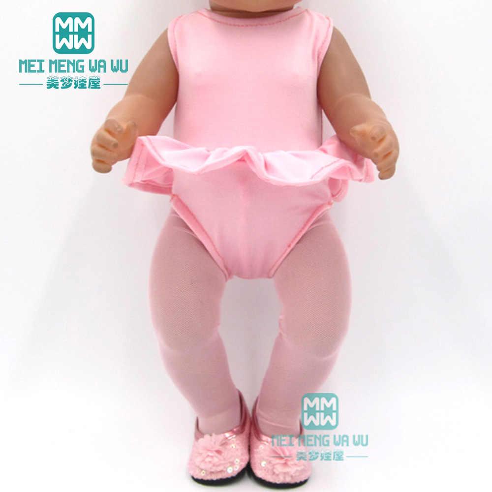 Kleding voor doll fit 43cm pasgeboren pop accessoires en amerikaanse pop eenhoorn outfit Badpak Baby een stuk kleding