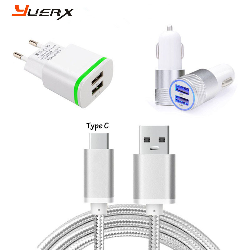 US /EU AC Plug Charger, Dual USB Car Charger for Meizu E2 , M3 Max , Pro 6S , 6 Plus , MX6 Type C USB Charging Sync Data Cable