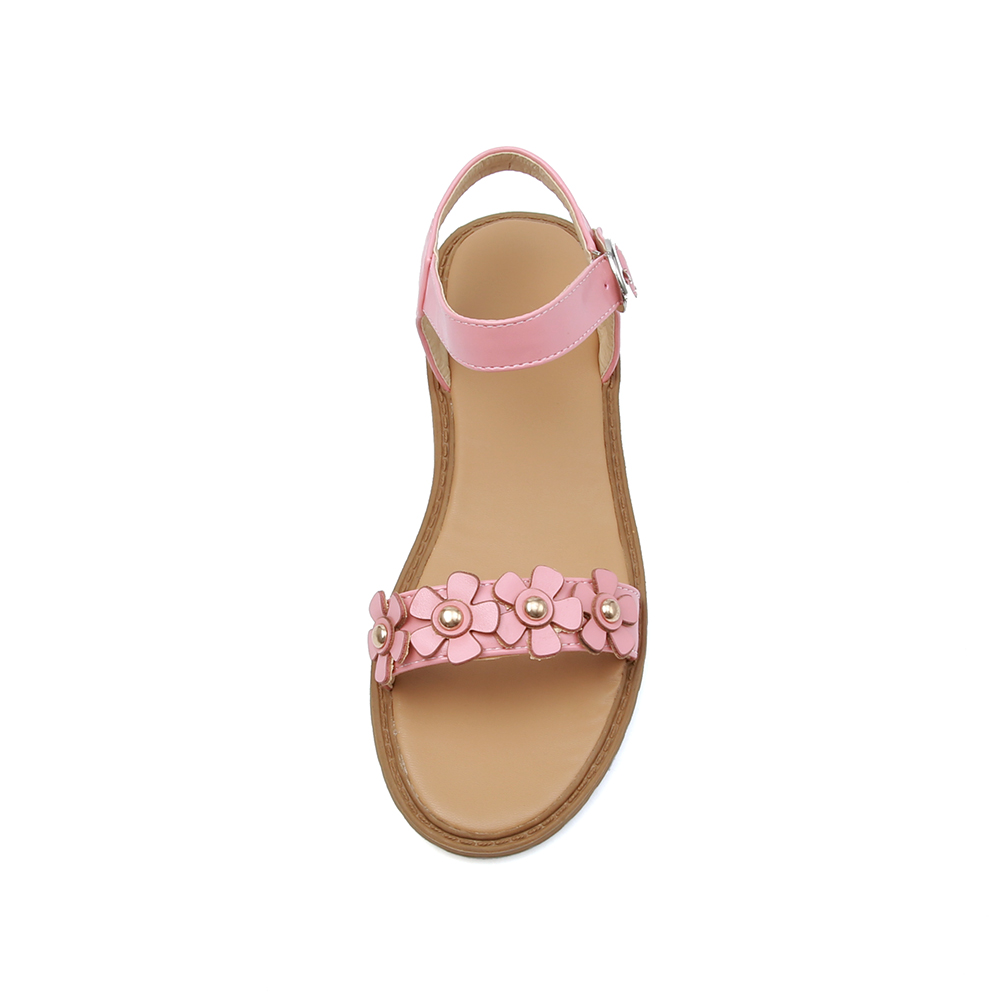 6a1f5cba9 Brand New Hot Sales Summer Sweet Flora Beige White Women Flat Sandals Pink  Lady Casual Shoes ES69 Plus Big Size 10 43-in Women s Sandals from Shoes on  ...