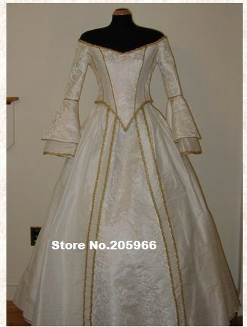 Custom Made Victorian Bridal Civil War Steampunk Ball Gown Dress/Vintage&Bridal Dress/Period Costume