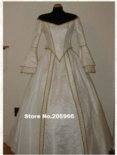 Custom Made Victorian Bridal Civil War Steampunk Ball Gown Dress/Vintage&Bridal Dress/Period Costume