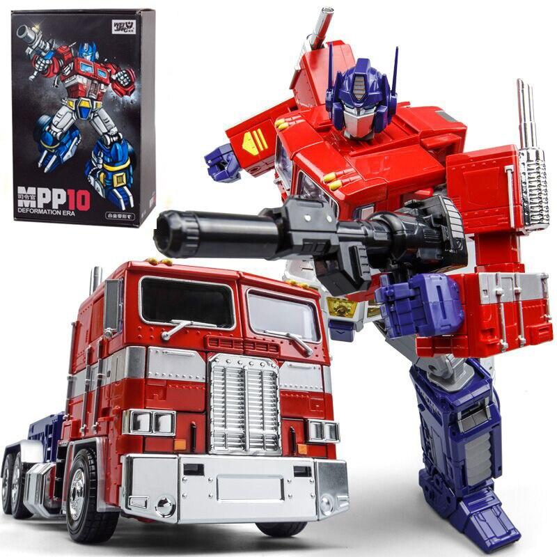 WEI JIANG fajne MPP10 transformacji zabawki chłopięce 33 CM Anime Oversize G1 ze stopu samochód robot działania model figurki dla dorosłych prezent oryginalne pudełko w Figurki i postaci od Zabawki i hobby na  Grupa 1