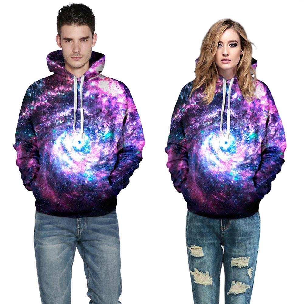 Space Galaxy Hoodies Men/Women Sweatshirt Hooded 3d Brand Clothing Cap Hoody Print Paisley Nebula  Jacket